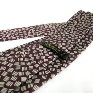 CHARVET  PLACE Tie Burgundy Wine Red Dashes